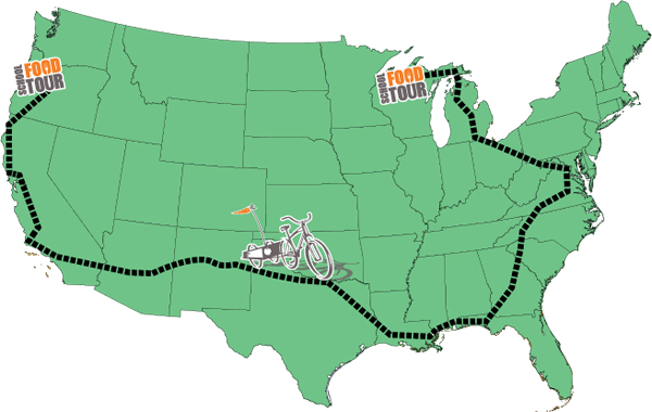 School Food Tour route map